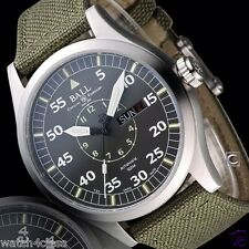 Genuine Ball Engineer Master II Aviator Grey NM1080C-N5J-GY green canvas strap