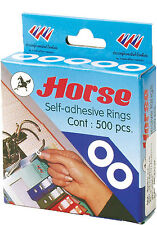 500 - PLASTIC SELF-ADHESIVE HOLE PROTECTOR RING/PAPER, REINFORCEMENT RING/LABEL