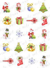 20 CHRISTMAS NAIL DECALS * CHRISTMAS TIME ASSORTMENT *  WATER SLIDE NAIL DECALS