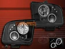 2005-2009 Ford Mustang Projector Headlights BLACK GT CCFL TWIN HALO LED