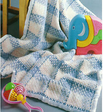 BABY CHECKS UNUSUAL CROCHET BLANKET PATTERN  EASY TO MAKE LOOK   (327)