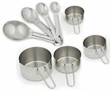 8 pc USA Measuring Cup & Spoon Set - New  Commercial  Stainless Steel