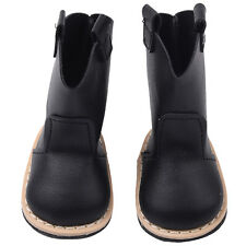 New Fashion Black PU Leather Boot For 18inch American Girl Doll Lovely Shoes Toy