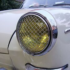 Headlight Grilles Mesh for VW Type 3 Beetle Stone Guards Vintage Rally AAC004