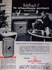 PUBLICITÉ 1959 IDÉAL LE CHAUFFAGE AIRFLAM AU MAZOUT - ADVERTISING