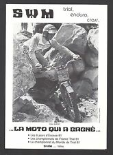 Brochure Prospectus  Moto SWM CROSS-BOY MINI-CROSS Enduro Trial Kataloge / 3j