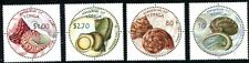 TONGA 2001 SEA SHELLS MINT COMPLETE SET OF FOUR ROUND STAMPS - $7 VALUE!