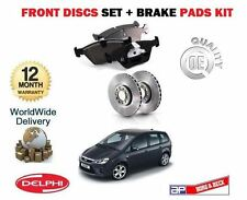 FOR FORD FOCUS C MAX 1.8i 2003-2007 NEW FRONT BRAKE DISCS SET + DISC PADS KIT