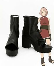 Naruto the last Haruno Sakura shinobi ninja Cosplay Schuhe Kostüm Shoes schwarz