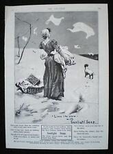SUNLIGHT SOAP WASHING POWDER LAUNDRY WOMAN & DOG ORIGINAL MAGAZINE ADVERT 1901