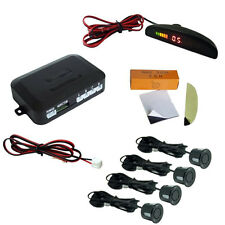 4 Car Parking Sensors LED Display Wireless Reverse Backup Radar Buzzing  Durable