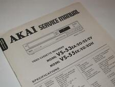 Akai vs-53 / vs-55 Vhs Video Cassette Recorder ~ Manual De Servicio / Reparación