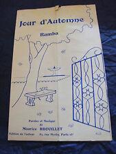 Partition Jour d'automne Maurice Brouillet Music Sheet
