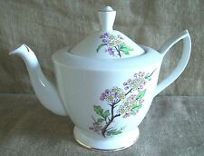 VINTAGE ROYAL ALBERT FLOWER OF THE MONTH TEAPOT MAY HAWTHORN 1950's