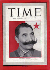 TIME MAGAZINE OCTOBER 13 1941 PAUL COLLETTE JAPANESE CABINET SEMION BUDENNY
