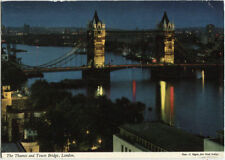 Alte Postkarte - The Thames and Tower Bridge, London