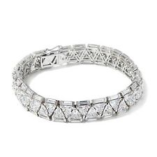 VICTORIA WIECK 33.8CTW ABSOLUTE TRIANGULAR AND BAGUETTE STERLING BRACELET HSN