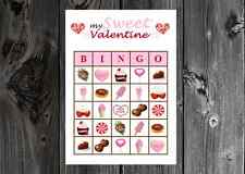 My Sweet Valentine Valentines Party Game Bingo Cards on Card Stock 10/20/30ct