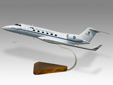 Gulfstream Aerospace G-V Hellenic Greek Air Force Mahogany Desktop Wood Model