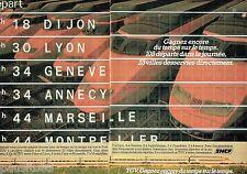 PUBLICITE ADVERTISING 106  1983  SNCF le train TGV (2p)  2