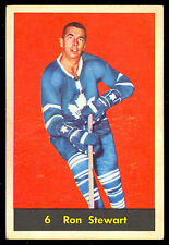 1960 61 PARKHURST HOCKEY #6 RON STEWART EX COND TORONTO MAPLE LEAFS FREE SHIP US