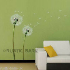 Home Decoration Vinyl Wall Sticker Art Decal Blown Dandelion Flowers UK