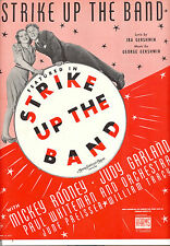 "STRIKE UP THE BAND Sheet Music ""Strike Up The Band"" Judy Garland Mickey Rooney"