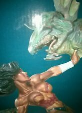 New DC COMICS COLLECTIBLE ADAM HUGHES WONDER WOMAN VS. HYDRA (PATINA) STATUE