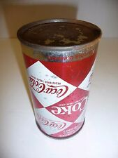 VINTAGE COCA COLA CAN 1966 Harlequin Diamond Pattern...Rare no pull tab...