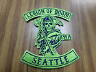 AWESOME NFL SEATTLE SEAHAWKS LEGION OF BOOM IRON ON PATCH