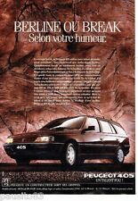 PUBLICITE ADVERTISING 116  1988   Peugeot  la 405  Break SRI