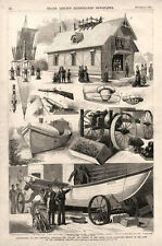United States Life Saving Service Exhibit at the Centennial Exhibition   -  1876