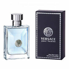 Versace Pour Homme After Shave Lotion 100ml For Men New Sealed Box Free P&P