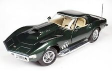 1969 Chevrolet 482 Corvette Stingray in Fathom Green American Muscle 1010 1/18 D