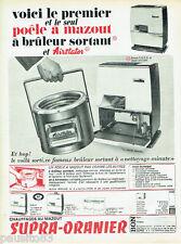 PUBLICITE ADVERTISING 115  1966  SUPRA-ORANIER  poele à mazout