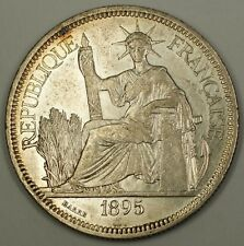 1895 A French Indochina Silver Crown Piastre Coin France