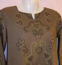 ROTATION LADIES LONG SLEEVE EMBROIDERED BLOUSE  UK SIZE 10-12