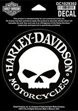 Harley Davidson Sticker Model Skull Hubcap