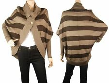 ConMiGo CD300 brown striped unique fine merino and wool cardigan