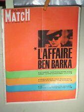 PARIS MATCH 29/01/1966 CAHIER SPECIAL AFFAIRE BEN BARKA /25PAGES