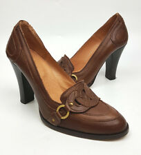 Ted Baker London shoes 6 US 37 EU brown leather ring detail pumps