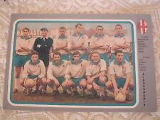 CARTOLINA CALCIO SQUADRA U.S. ALESSANDRIA SCHIERATA STAGIONE 1960/61