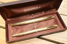 Sheaffer Lady 908 Set, Fountain Pen & Ballpoint In 22K Plate Gold - C1970's
