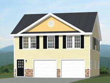 30x32 House -- 2 bedroom 1.5 Bath -- 986 sqft -- PDF Floor Plan -- Model 1B