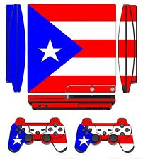 Flag 266 Skin Sticker Cover for PS3 PlayStation 3 Slim and 2 controller skins
