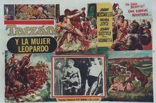 TARZAN & LA FEMME LEOPARD (TARZAN & THE LEOPARD WOMAN) Affiche Johnny WEISMULLER