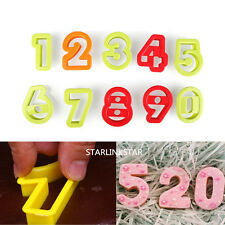 10Pcs Numbers Cake Cookie Cutter Baking Tool Biscuit Sugarcraft Fondant Mold NEW