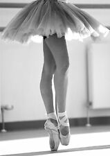 BALLET BALLERINA POINTED SHOES Photo Poster Print A4 260GSM