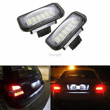 For Mercedes Benz W203 W211 W219 Error Free White 18 LED License Plate Light New