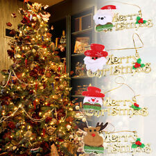 4 × Merry Christmas Door Tree Hanging Decoration Home Xmas Santa Party Ornaments